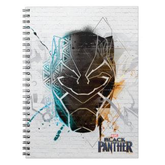 Black Panther | Dual Panthers Street Art Notebook