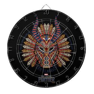 Black Panther   Erik Killmonger Tribal Mask Icon Dartboard