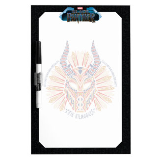 Black Panther | Erik Killmonger Tribal Mask Icon Dry Erase Board