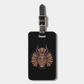 Black Panther | Erik Killmonger Tribal Mask Icon Luggage Tag