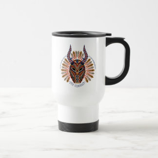 Black Panther | Erik Killmonger Tribal Mask Icon Travel Mug