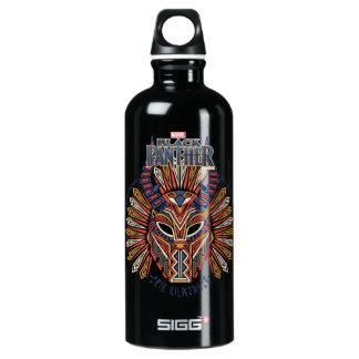 Black Panther   Erik Killmonger Tribal Mask Icon Water Bottle