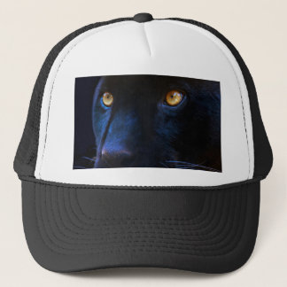 black panther eyes trucker hat
