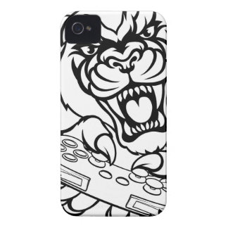 Black Panther Gamer Mascot Case-Mate iPhone 4 Case