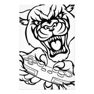 Black Panther Gamer Mascot Stationery
