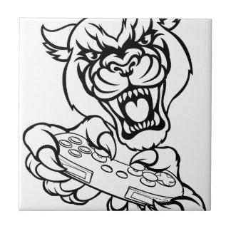 Black Panther Gamer Mascot Tile
