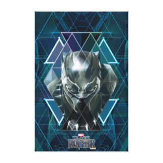Black Panther | Geometric Character Pattern Canvas Print