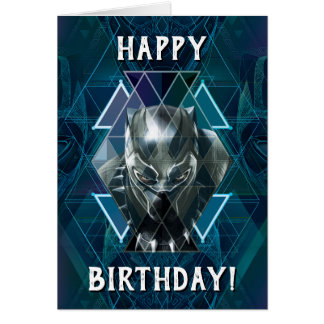 Black Panther   Geometric Character Pattern Card