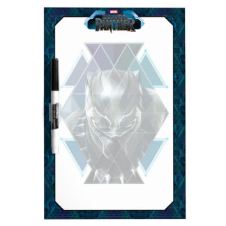 Black Panther | Geometric Character Pattern Dry Erase Board