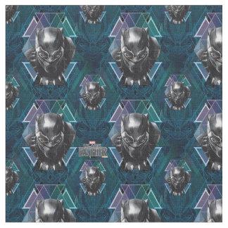 Black Panther | Geometric Character Pattern Fabric
