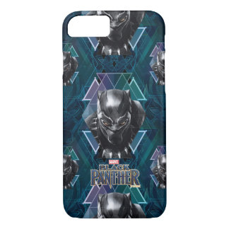 Black Panther | Geometric Character Pattern iPhone 8/7 Case