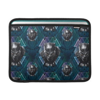 Black Panther | Geometric Character Pattern MacBook Sleeve