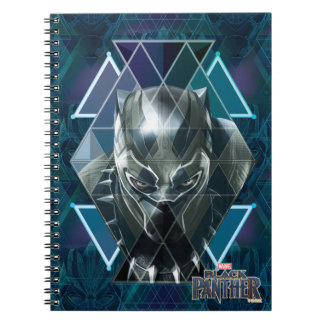 Black Panther | Geometric Character Pattern Notebook