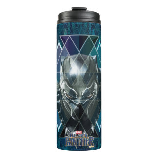 Black Panther | Geometric Character Pattern Thermal Tumbler