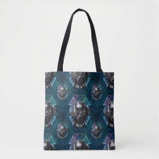 Black Panther   Geometric Character Pattern Tote Bag