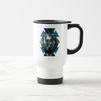 Black Panther | Geometric Character Pattern Travel Mug