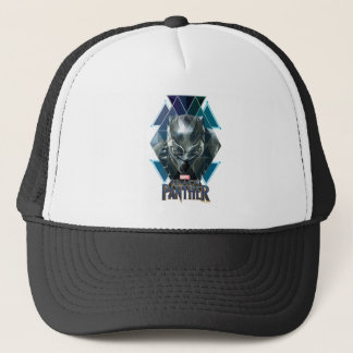 Black Panther | Geometric Character Pattern Trucker Hat