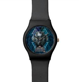 Black Panther | Geometric Character Pattern Watch