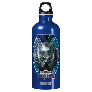 Black Panther   Geometric Character Pattern Water Bottle