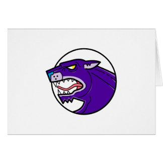 Black Panther Growling Mono Line Card