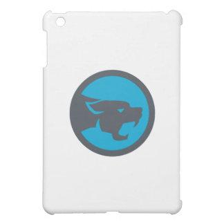 Black Panther Head Growling Circle Retro iPad Mini Cover
