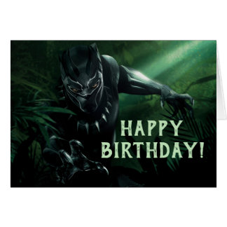 Black Panther   In The Jungle Card