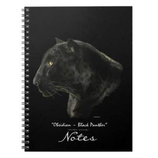Black Panther Jaguar Leopard Wildlife Art Notebook
