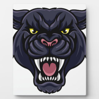 Black Panther Mascot Plaque