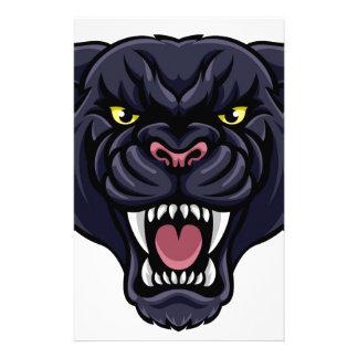 Black Panther Mascot Stationery
