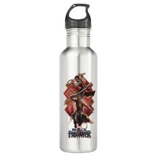 Black Panther   Nakia & Okoye Wakandan Graphic 710 Ml Water Bottle