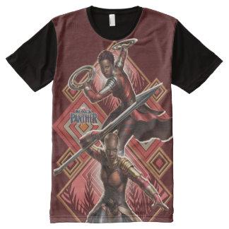 Black Panther | Nakia & Okoye Wakandan Graphic All-Over Print T-Shirt