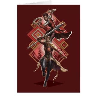 Black Panther   Nakia & Okoye Wakandan Graphic Card