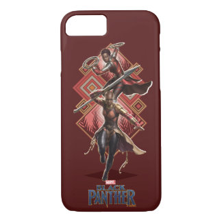 Black Panther | Nakia & Okoye Wakandan Graphic iPhone 8/7 Case