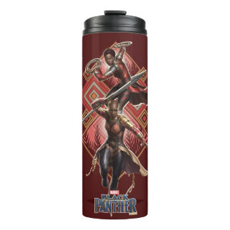 Black Panther | Nakia & Okoye Wakandan Graphic Thermal Tumbler