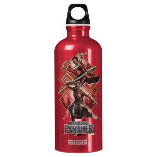 Black Panther   Nakia & Okoye Wakandan Graphic Water Bottle