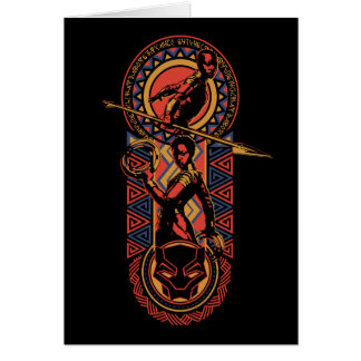 Black Panther   Okoye & Nakia Wakandan Panel Card