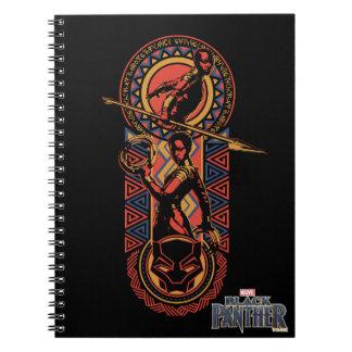 Black Panther | Okoye & Nakia Wakandan Panel Notebook