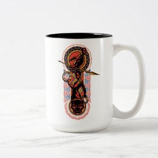 Black Panther | Okoye & Nakia Wakandan Panel Two-Tone Coffee Mug