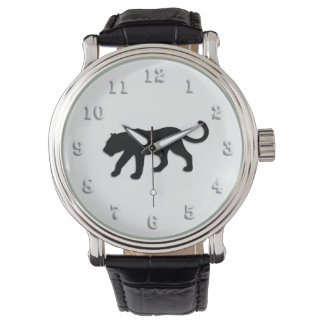 Black Panther on White Wristwatch