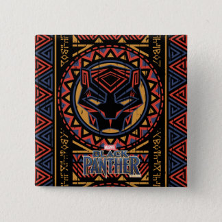 Black Panther | Panther Head Tribal Pattern 15 Cm Square Badge