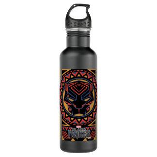Black Panther   Panther Head Tribal Pattern 710 Ml Water Bottle