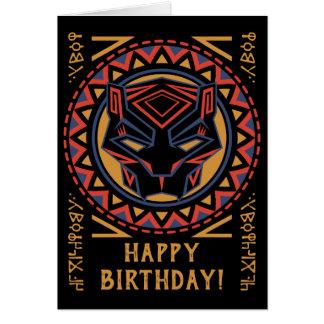 Black Panther   Panther Head Tribal Pattern Card