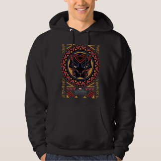 Black Panther | Panther Head Tribal Pattern Hoodie