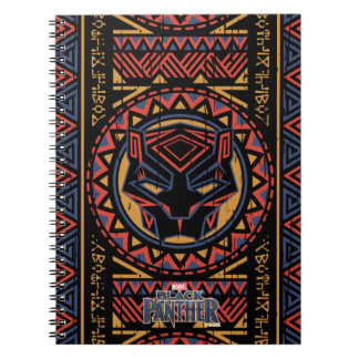 Black Panther | Panther Head Tribal Pattern Notebook