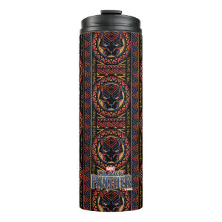 Black Panther | Panther Head Tribal Pattern Thermal Tumbler