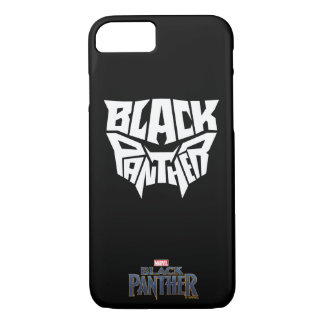 Black Panther | Panther Head Typography Graphic iPhone 8/7 Case