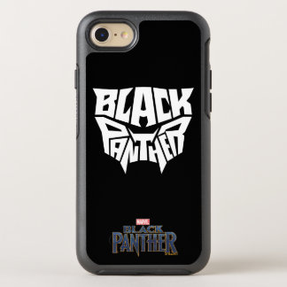 Black Panther | Panther Head Typography Graphic OtterBox Symmetry iPhone 8/7 Case