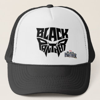 Black Panther | Panther Head Typography Graphic Trucker Hat