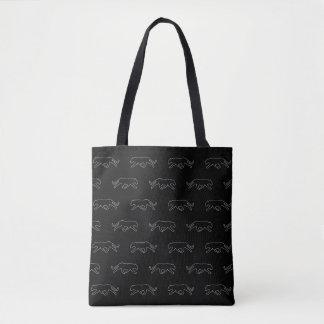 Black Panther Print Tote Bag