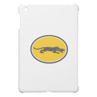 Black Panther Prowling Oval Retro Case For The iPad Mini